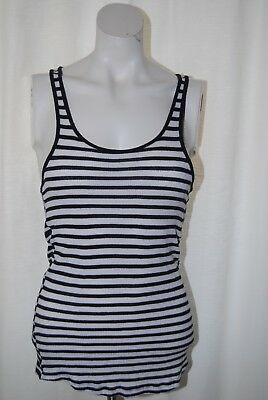 French Connection Ladies Black & White Striped Vest Top Size S