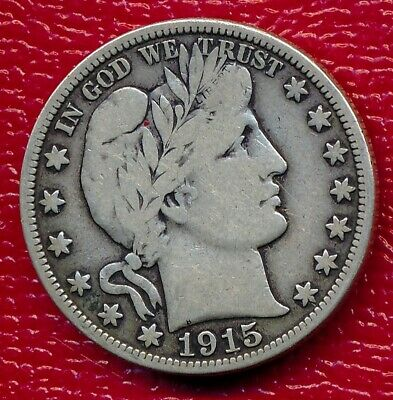 1915 Barber Silver Half Dollar **nicely Circulated Fine Coin** Free Shipping!!