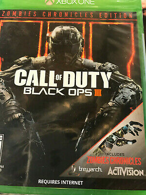 NEW Call of Duty Black Ops III 3 Zombies Chronicles Edition XBox One