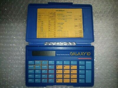 Texas Instrument Galaxy 10 - calculatrice vintage collection d'origine