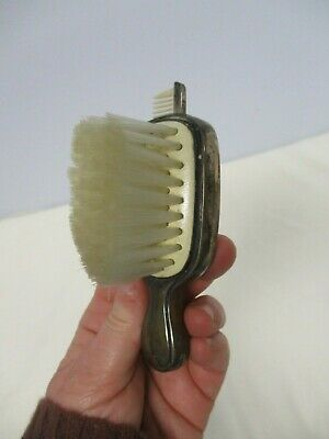 ANTIQUE SAART BROS. STERLING SILVER BABY HAIR BRUSH with SLIDE IN COMB