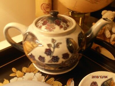 SALE! Moorcroft Bramble Blackberries Teapot and Lid in Superb Mint Condition