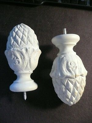 Large Detailed Solid Pine Cone Finials  1 Pair