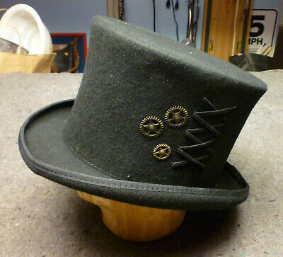 e2044c571045d4 Conner Hats SteamPunk Top Hat (Black / Men's / XX Large Size) EUC needs