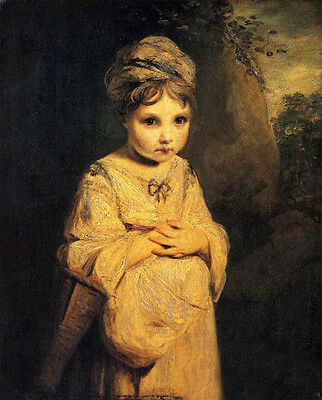Art Oil painting Joshua Reynolds - The Strawberry Girl in landscape canvas