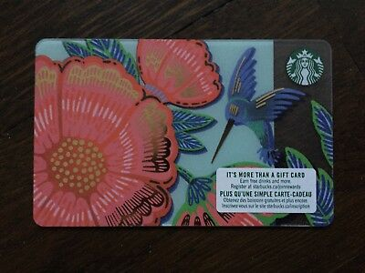 "Canada Series Starbucks ""SPRING HUMMINGBIRD 2019"" Gift Card - New No Value"