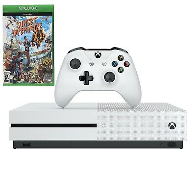 Microsoft Xbox One S 1TB White Console & Sunset Overdrive Video Game Bundle