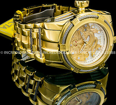 Invicta Men Legend Bolt Zeus Dragon NH35A 26J Automatic 18kt Gold Plated Watch