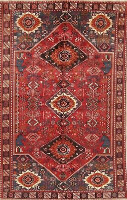 Ancient Persepolis lion Dynasty Persian Oriental Hand-Knotted 6x10 WOOL Area Rug