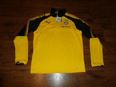 2b5a97b22ee8 NEW Puma BVB Dortmund Borussia 1 4 Zip Soccer Training Top Shirt Jacket  Large L