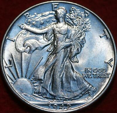 Uncirculated 1942 Philadelphia Mint Silver Walking Liberty Half