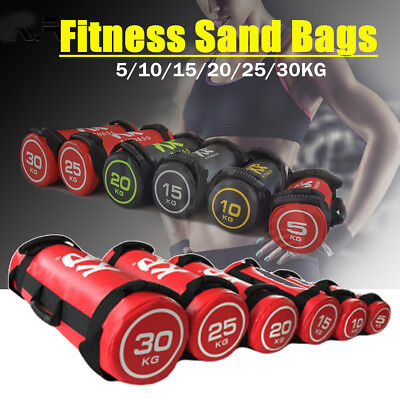 5/10/15/20/25/30KG Training Fitness Power Exercise Boxing Weights Sand Bags New