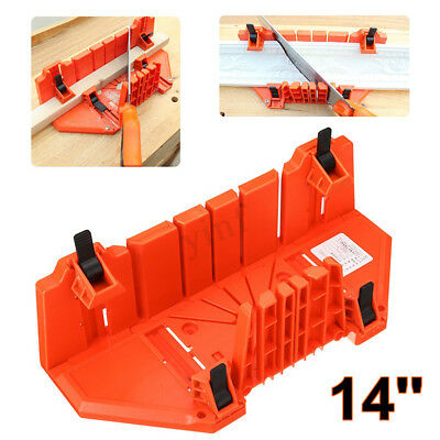 14'' Saw Cabinet Case Woodworking Oblique Angle Hand Clip Cutting Tool Mitre Box