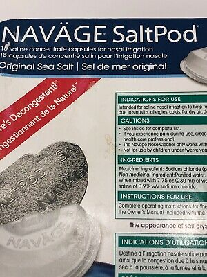 Navage Salt Pod Original Sea Salt Nasal Irrigation 18 Saltpod Capsules De 20141