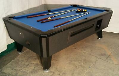 Two Valley Cougar Commercial Bar Size 7' Coin-Op Pool Table Black Cat In Blue