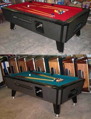 Two Valley Cougar Commercial Bar Size 7' Coin-Op Pool Table Black Cat In Red