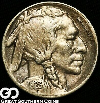 1923-S Buffalo Nickel, Highly Desired Choice AU Better Date