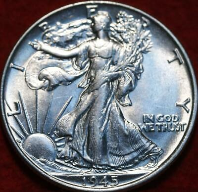 Uncirculated 1945 Philadelphia Mint Silver Walking Liberty Half