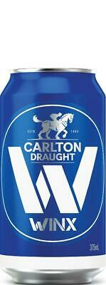 Limited Collectors Edition Carlton Draught Winx Beer Case 24x375ml Cans