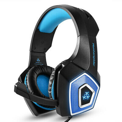 Hunterspider Stereo Bass Surround Gaming Headset Headphone for PS4 Xbox One J3W5