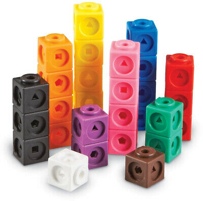 100 Learning Resources Mathlink Cubes Hands on Math Practice Fine Motor Skills