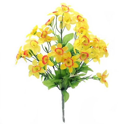 Artificial Silk Bush Small Yellow Daffodils/Daffs Spring Flowers Easter Gift