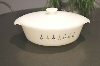 Fire King Candle Glow Oval Casserole Dish Anchor Hocking 1 1/2 Quart