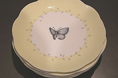 "Set of 6 LENOX Butterfly Meadow 8"" Plates"