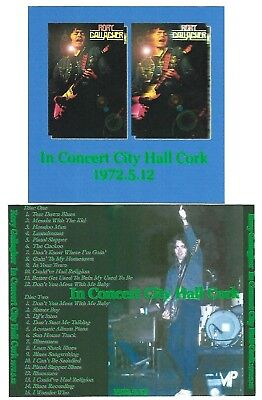 RORY GALLAGHER In Concert City Hall Cork 2CD Recorded Live 12-05-72 LIKE NEW