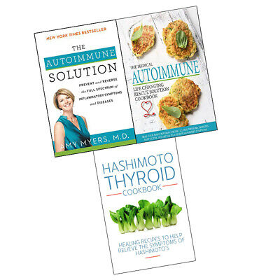 Autoimmune Solution,Hashimoto Thyroid Cookbook, 3 Books Collection Set BRAND NEW