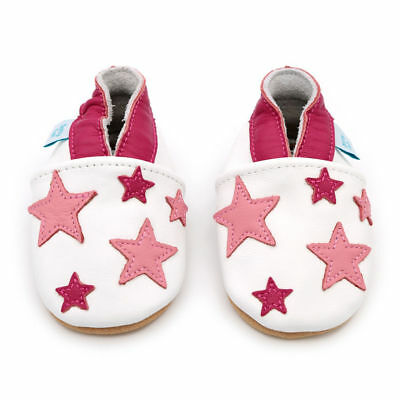 Dotty Fish Soft Leather Baby & Toddler Shoes  Pink Stars 6-12 Months JS181 AG 12