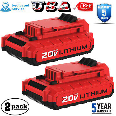 2X For PORTER CABLE PCC680LP 20Volt Max Lithium-Ion 20V Battery PCC685L PCC682L