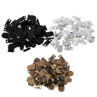 60 Sets No-Sew Hook & Eye Closure Fastener for Trousers Skirt Dress Clothes