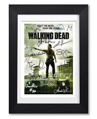 The Walking Dead Cast Signed Poster Tv Series Season Print Photo Autograph Gift