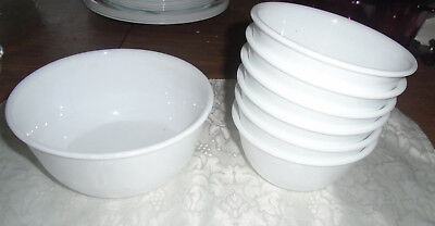 7 Corelle  Winter Frost White Set of 6 12oz DESSERT RICE ICE CREAM Bowls +