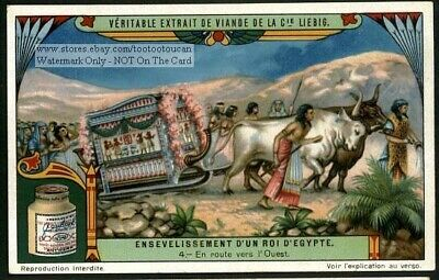 King Tuts Funeral Ancient Egypt 1920s Trade Ad Card