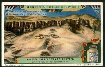 King Tut Burial Tomb Ancient Egypt c1920s Trade Ad Card
