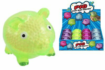 Squishy Beads Pig Squeezy Sticky Ball Stress Relief Kids Party Bag Filler Toy