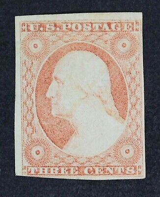CKStamps: US Stamps Collection Scott#11 3c Washington Mint H OG Tiny Thin