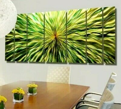 Statements2000 3D Metal Wall Art Panels Modern Green Gold Painting by Jon Allen