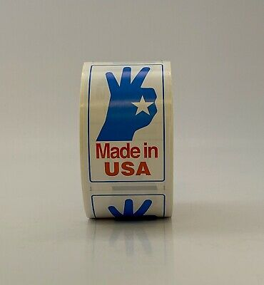 "2"" x 3"" Made In USA Sticker Label 500/roll"