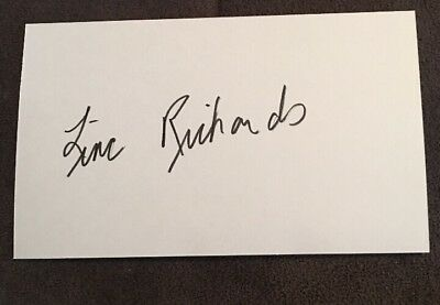 Linc Richards - Actor -Autograph Signed-Index Card-Guaranteed Authentic