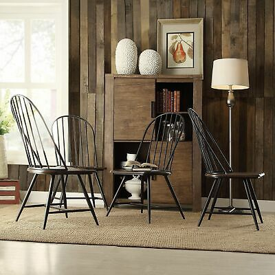 Belita Mid-century Two-tone Modern Spindle Wood Dining Chairs (Set of 4) by