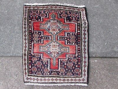 Old Traditional Hand Made Persian Rugs Oriental Wool White Pink Small Rug 50x42m