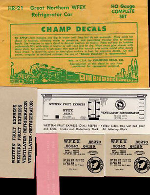 Champ decals HO HR-57 MDT NYC Early Bird reefer   G113