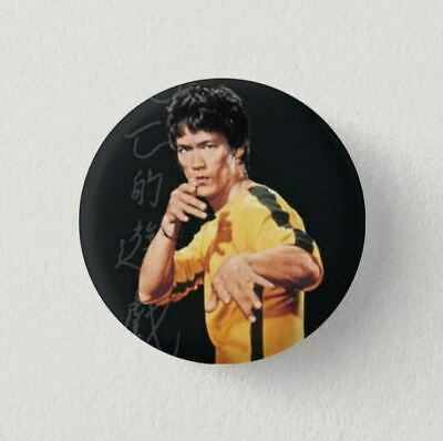 Chapa Pin Button Badge BRUCE LEE, JET KUNE DO, KUNG-FU