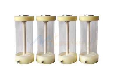 4PCS Fluidized powder hopper cup bottle for Electrostatic powder coating system