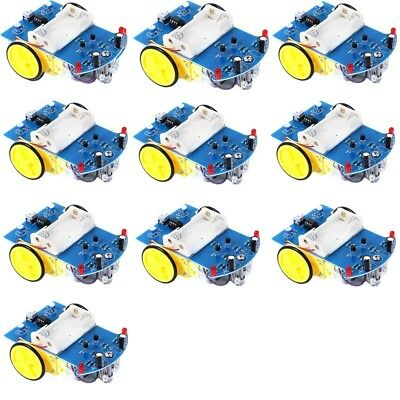 10pc D2-1 Intelligent Tracking Smart Car DIY Kit For Student Electronic Learning