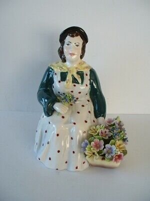 Dresden Floral Fine Bone China England  -  Female Flower Seller Figurine