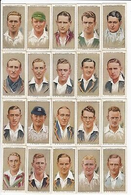 Huge Collection of 32 Antique CRICKET Cards from 1934